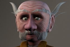 Gnome Head Closeup