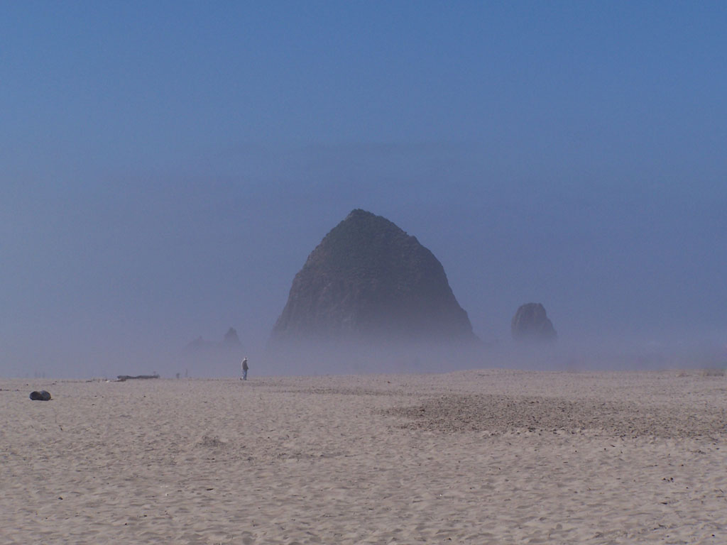 Oregon Coast Haystack Rock north