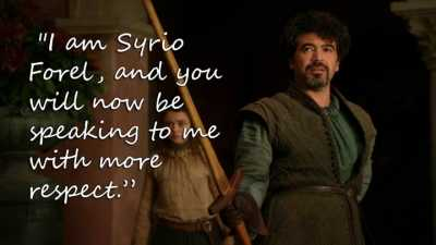 Syrio Forel - Respect - Game of Thrones