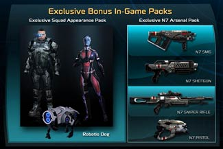 Mass Effect 3 Bonus In-Game Packs