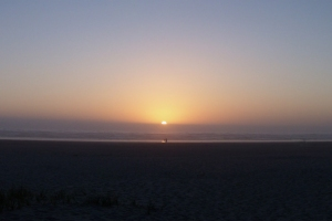 Oregon Coast Seaside Sunset Pano