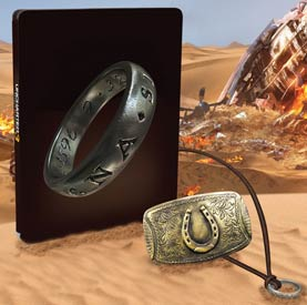 Uncharted 3 Collector's Steelbook Necklace and Belt Buckle